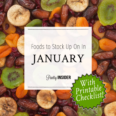 Foods To Stock Up On In January