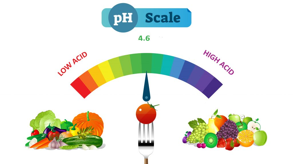Ph Scale of Fruits and Vegetables